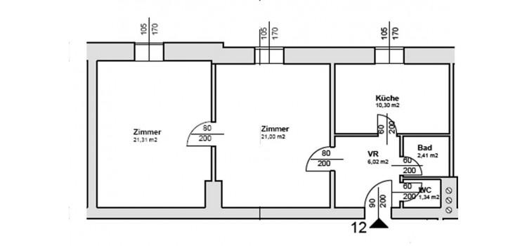 Plan 2 Zimmer
